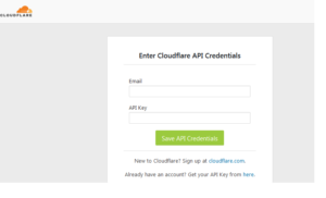API key credentials for authentication